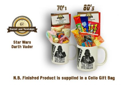 Star Wars Darth Vader Mug with/without a Dark Side portion of 70's or 80's Sweets